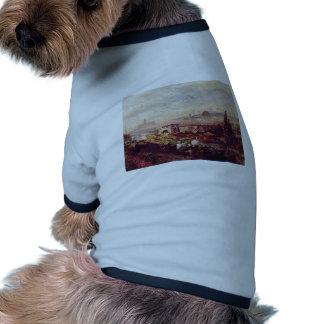 Vista de Florencia de Oswald Achenbach (la mejor c Camiseta De Perrito