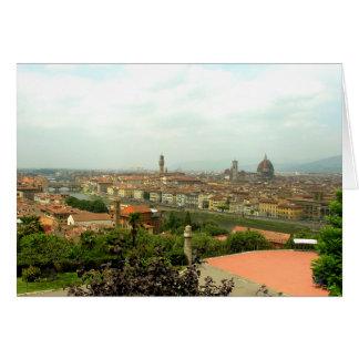 Vista de Florencia de Piazzale Miguel Ángel Tarjeta De Felicitación