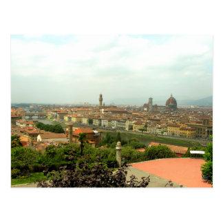 Vista de Florencia de Piazzale Miguel Ángel Tarjeta Postal