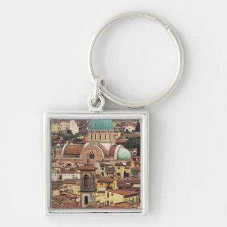 Vista de Florencia Italia de la plaza Llavero Personalizado