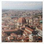 Vista de Florencia, Italia desde arriba del Tejas Cerámicas