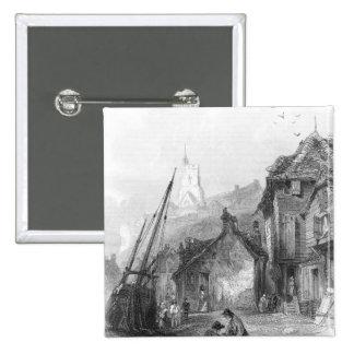 Vista de Folkestone Pin Cuadrado