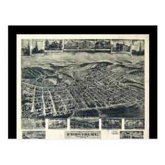 Vista de Frostburg Maryland de T.M. Fowler (1905) Postal