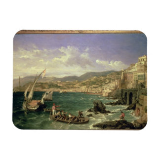 Vista de Génova, 1854 (aceite en lona) Imán Rectangular
