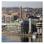 Vista de Georgetown y de Costa-Washington DC Azulejos Cerámicos