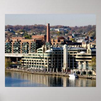 Vista de Georgetown y de Costa-Washington DC Posters