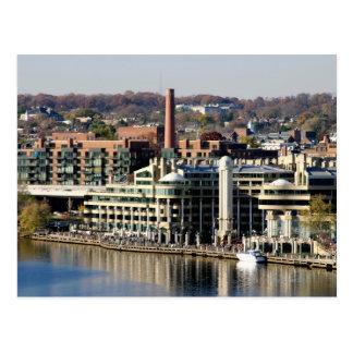Vista de Georgetown y de Costa-Washington DC Tarjetas Postales