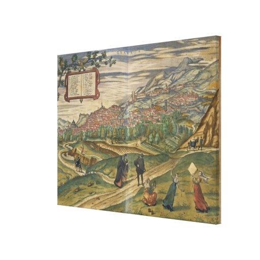 Vista de Granada Lona Estirada Galerías