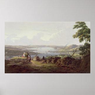 Vista de Greenock, Escocia Póster