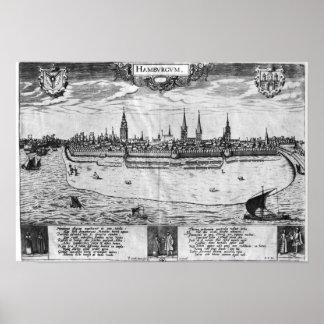 Vista de Hamburgo Póster