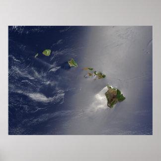 Vista de Hawaii del espacio Impresiones
