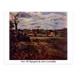 Vista de Highgate de John Constable Tarjetas Postales