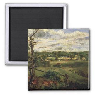 Vista de Highgate del brezo de Hampstead, c.1834 Imán Cuadrado