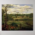Vista de Highgate del brezo de Hampstead, c.1834 Posters
