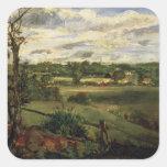 Vista de Highgate del brezo de Hampstead, c.1834 Pegatina Cuadrada
