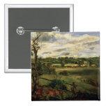 Vista de Highgate del brezo de Hampstead, c.1834 Pin Cuadrado