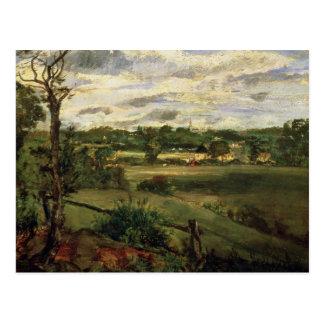Vista de Highgate del brezo de Hampstead, c.1834 Postal