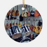 Vista de instrumentos musicales ornatos