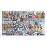 Vista de instrumentos musicales tarjetas de visita