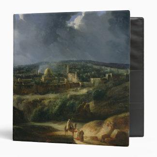 """Vista de Jerusalén del valle de Jehoshaphat Carpeta 1 1/2"""""""