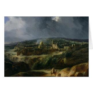 Vista de Jerusalén del valle de Jehoshaphat Tarjeta De Felicitación