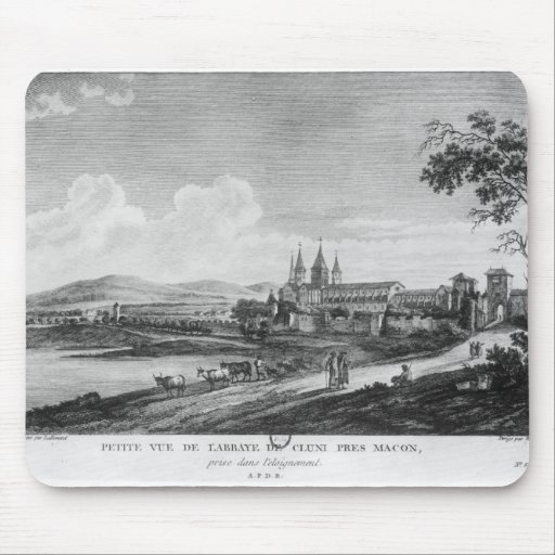 Vista de la abadía de Cluny Tapete De Ratón