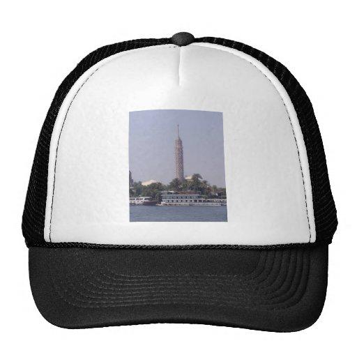 Vista de la alta torre de El Cairo Gorras