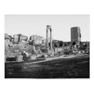 Vista de la antigüedad del teatro tarjeta postal