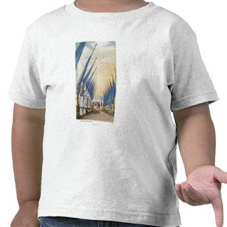 Vista de la avenida de Flags, la feria 1934 de mun Camisetas