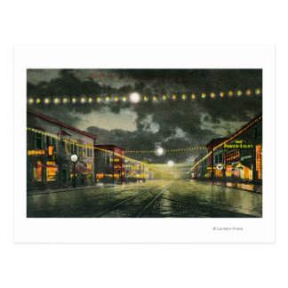 Vista de la avenida de Hewitt en la noche Postal