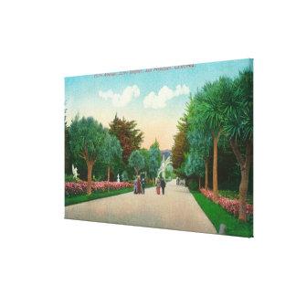 Vista de la avenida de la palma en las alturas de  impresión en lona
