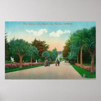 Vista de la avenida de la palma en las alturas de  póster