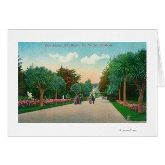 Vista de la avenida de la palma en las alturas de  tarjeta de felicitación