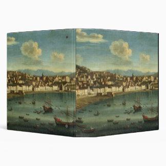 """Vista de la bahía de Nápoles de la bahía de Chiaia Carpeta 1 1/2"""""""
