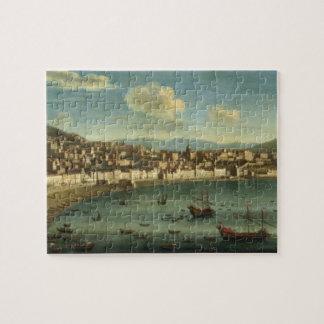 Vista de la bahía de Nápoles de la bahía de Chiaia Rompecabeza