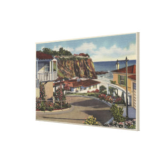 Vista de la bahía y de residencias esmeralda impresiones en lienzo estiradas