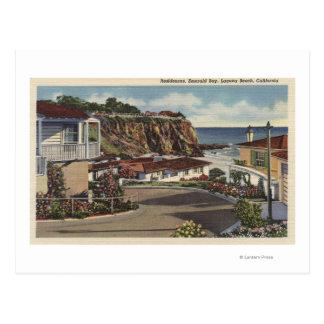 Vista de la bahía y de residencias esmeralda postal