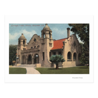 Vista de la biblioteca pública de Carnegie Tarjetas Postales