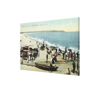 Vista de la cabeza de la playa y de la arcilla impresiones en lona estiradas