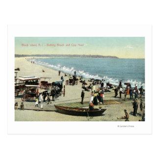 Vista de la cabeza de la playa y de la arcilla postales