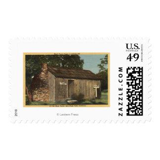 Vista de la cabina de Mark Twain en la colina del Sello Postal