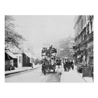 Vista de la calle de la iglesia, Kensington c.1906 Postal