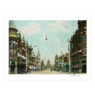 Vista de la calle de Mariposa que hace frente Postales