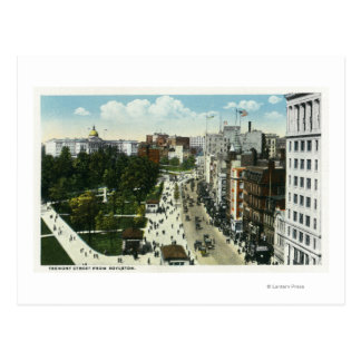 Vista de la calle de Tremont de Boylston Postal