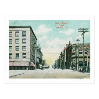 Vista de la calle del este de Colorado Tarjetas Postales