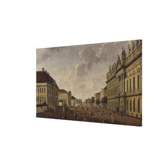 Vista de la calle del tilo del arsenal y de la gua lona envuelta para galerías