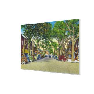 Vista de la calle principal 2 impresión en lienzo estirada