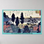 Vista de la capilla de Kanda Myojin por Ando, Hiro Impresiones