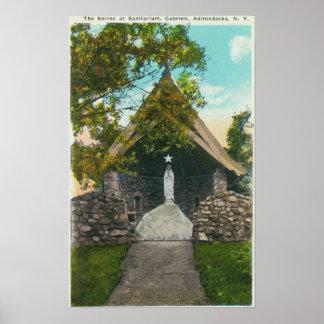 Vista de la capilla en el sanatorio en Gabriels Poster