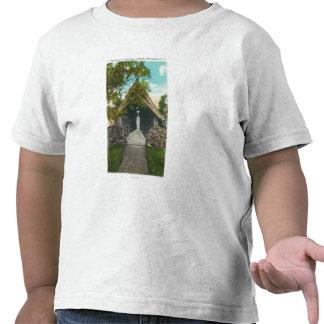 Vista de la capilla en el sanatorio en Gabriels Camisetas